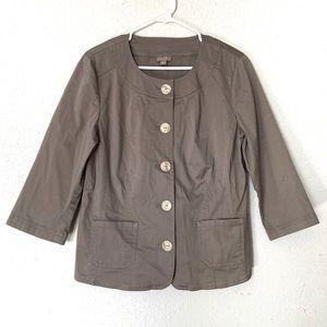 J Jill Button Down Utility Jacket Size 10